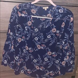 Lily White flower flow top
